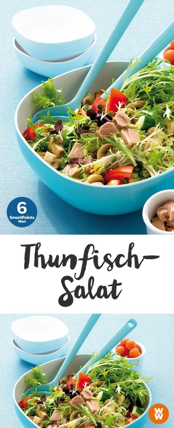 Knackiger Salat mit Thunfisch   6 SmartPoints/Portion, Weight Watchers, fertig in 15 min