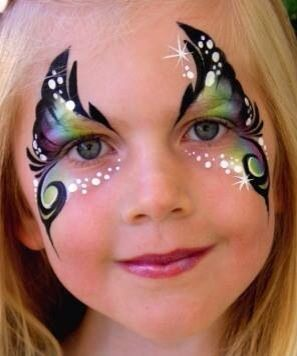 butterfly face paint - Google Search