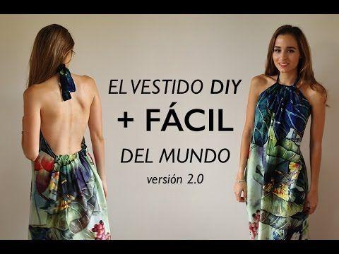 DIY | El vestido mas fácil del mundo 2.0 (listo en 1/2 hora) - YouTube