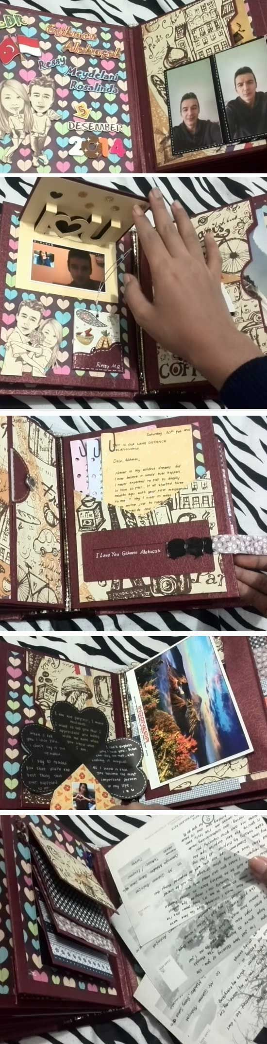 personalized-scrapbook | DIY Christmas Gifts for Men | Inexpensive Christmas Gifts for Him #boyfriendgift