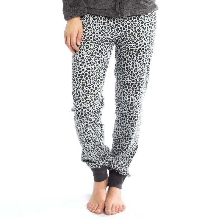 Lange katoenen broek met luipaardprint - Veritas