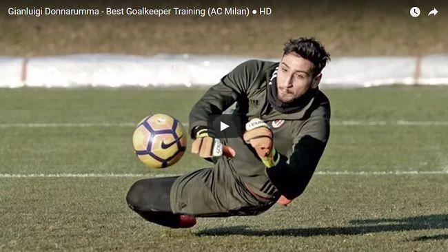 Trening bramkarski Gianluigi Donnarummy w AC Milan • Jak wygląda trening bramkarski w wykonaniu Gianluigi Donnarummy? • Wejdź i zobacz #acmilan #milan #pilkanozna #futbol #sport #trening #bramkarz #donnarumma