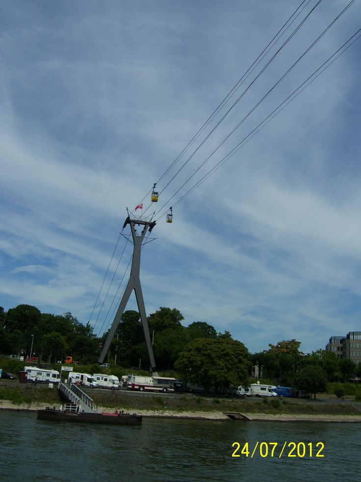 Cableway through the river...
