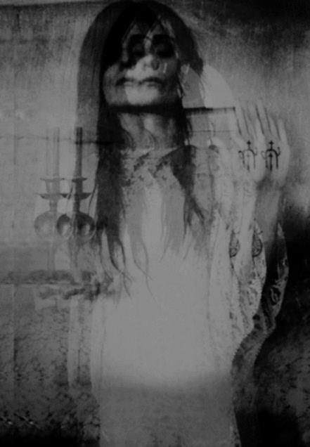 Occult Black and White Experimental Glitch Photograph | Dark Photography | Zombie Ghost Girl | Glitched Witchy Art | Esoteric | Creepy | Strange | Gothic | Witchcraft