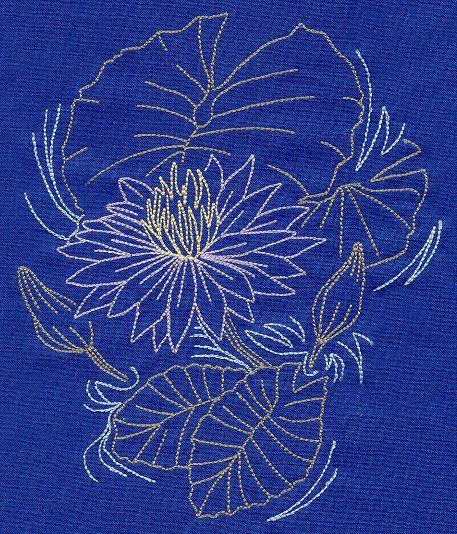Sashiko Style Lotus