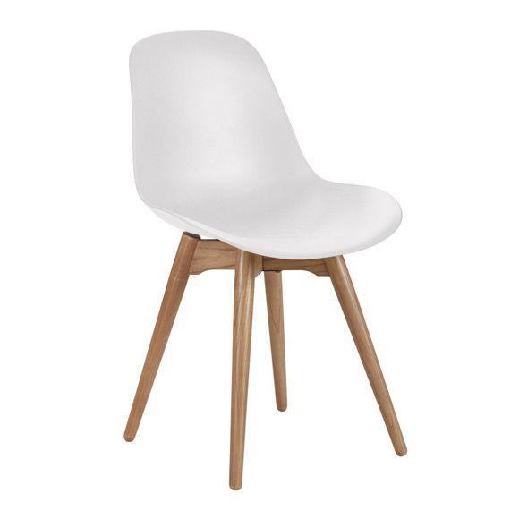 STUHL in Kunststoff Eichefarben, Weiß - Stühle - Esszimmer - Wohn- & Esszimmer - Produkte