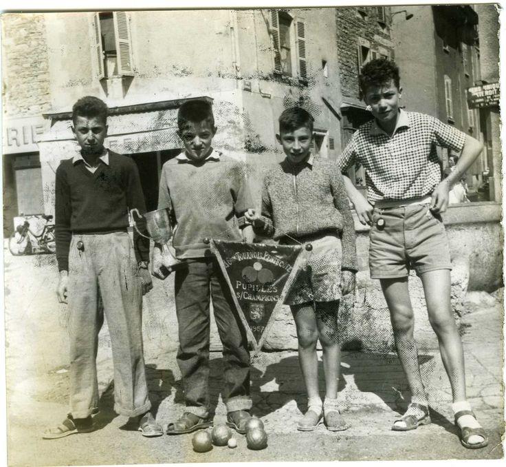 Photo Tournoi Pentecôte 1957 Pupilles Champions Pétanque Jeu Boule   eBay