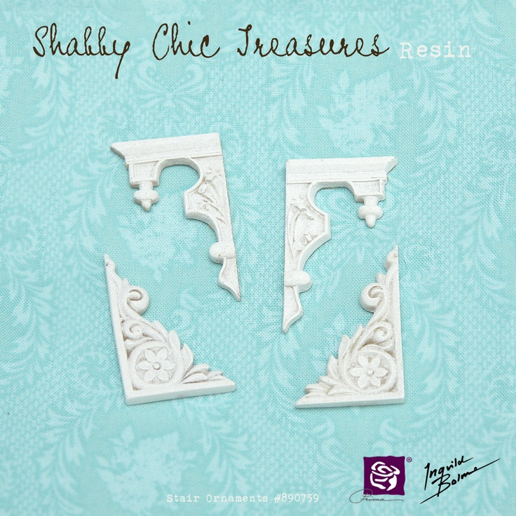 Shabby Chic Resin Treasures - Stair Ornaments