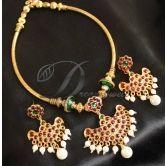 Lovely Temple Design Hand Made Kemp Necklace Set-dj0399