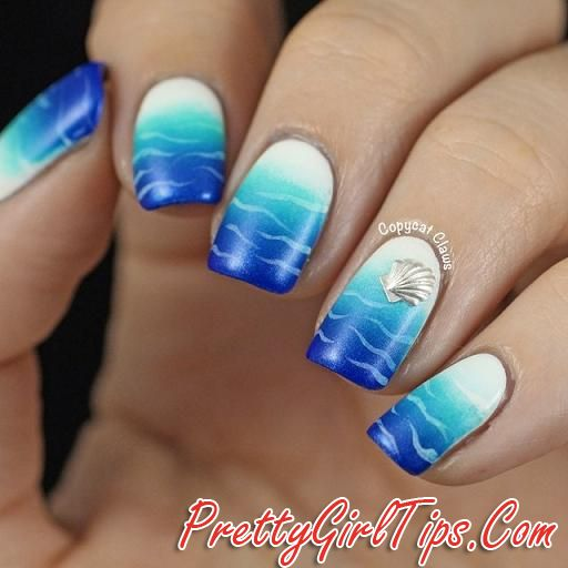 @prettygirltips Blue Ombre Nails via