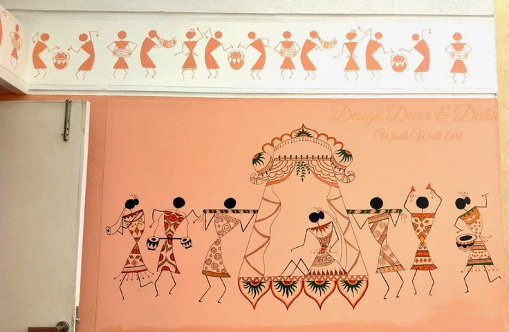 My First Commissioned Warli Wall Art
