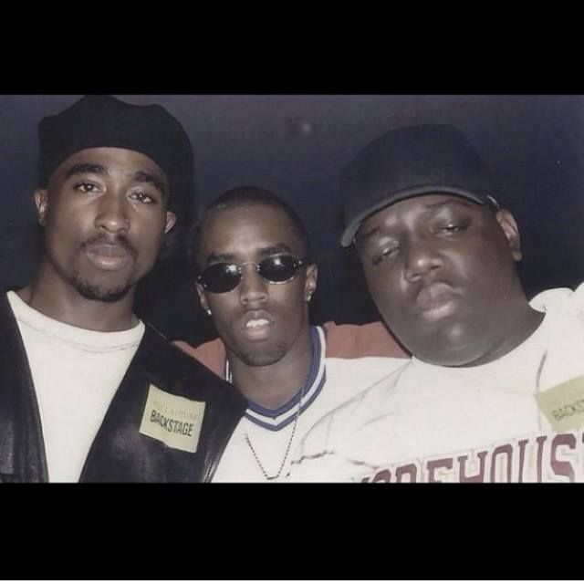 Tupac, Puff Daddy and Notorious BIG