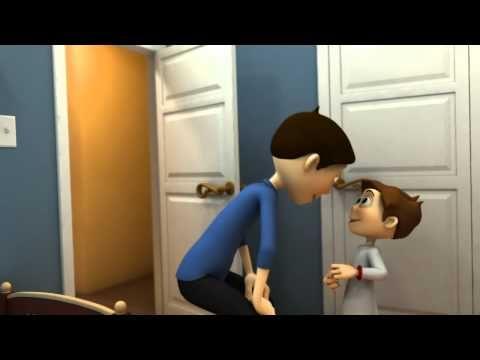 ▶ Braxton - Animated Short Film By Brad Warren - YouTube - quiere jugar, juega videojuegos, le dice que recoja, recoge, pone los juguetes en