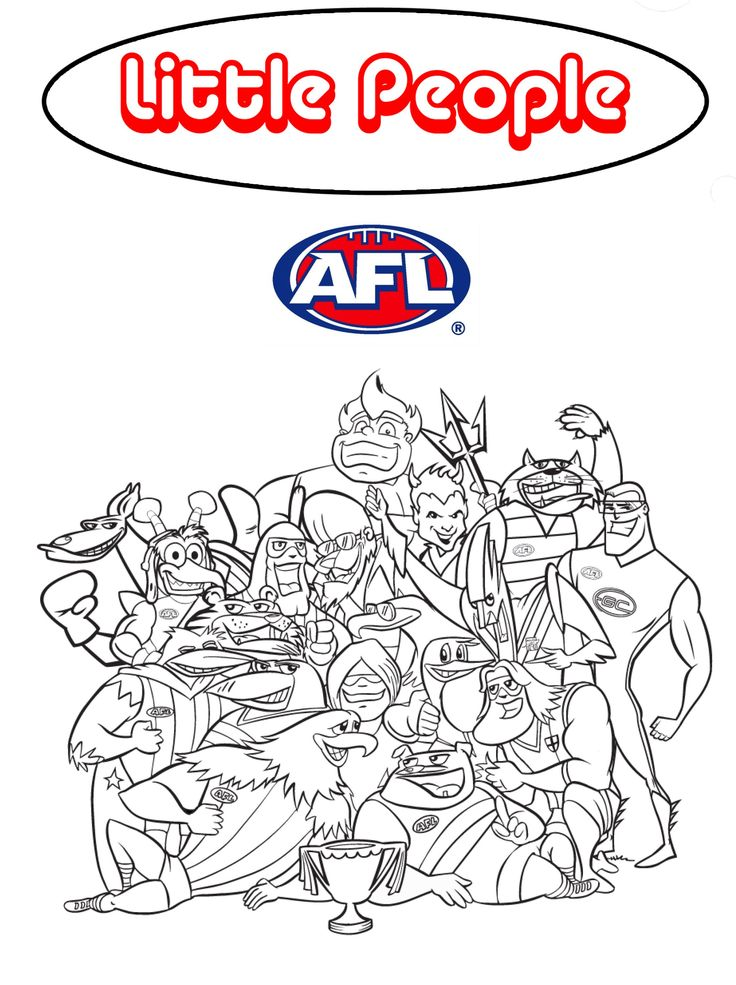 37+ Printable afl football colouring pages ideas