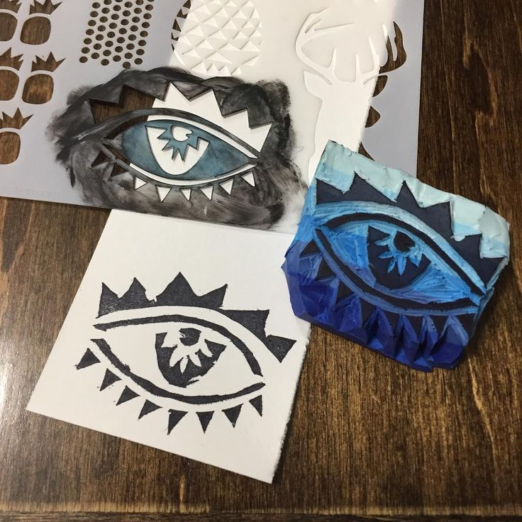 """37 Likes, 2 Comments - Denise Lush-Keats (@deniselush) on Instagram: """"Used one of @tcwstencils stencils designed by @balzerdesigns Trendy Images to carve a stamp. Just…"""""""