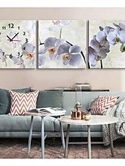Pansy+Clock+in+Canvas+3pcs+–+USD+$+59.99