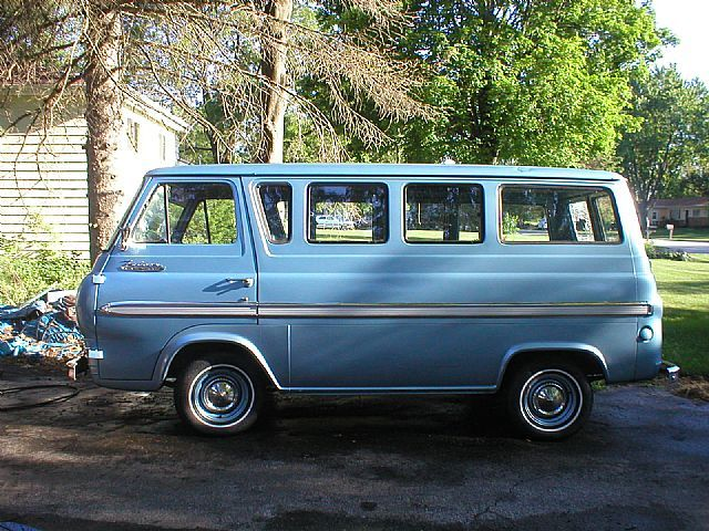 1964 Ford Falcon Deluxe Club Wagon Van ... this says summer to me!