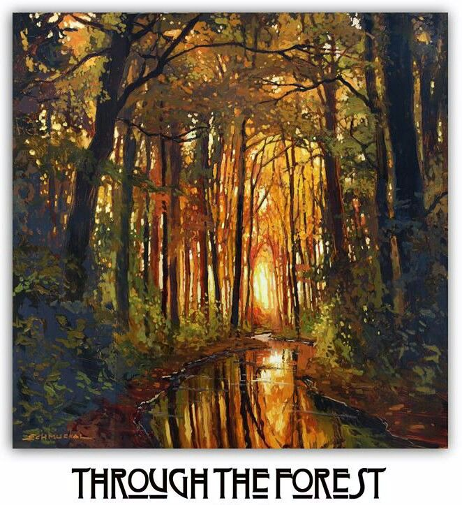 """Through The Forest"" | 24""x 24"" | Original Oil on Cradled Panel by Jan Schmuckal"