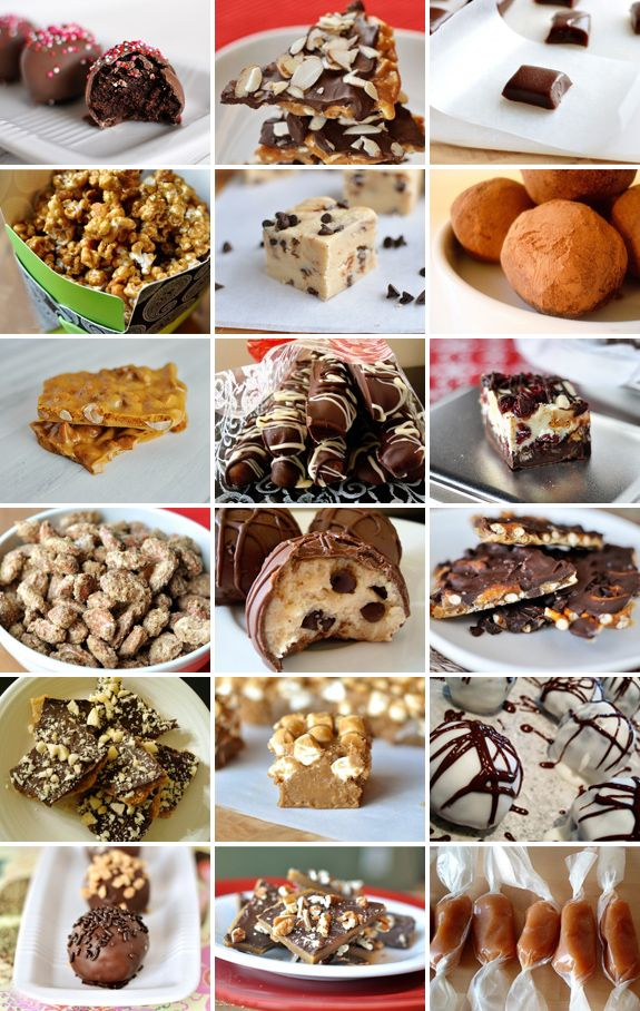 I am going to make ALL of these!!! Muah ha ha!!! melskitchencafe.com: Christmas Candy Collage {18 Recipes in One Place!}