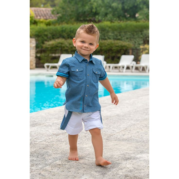 Chemise à manches courtes Sea Cruiser denim à rayures (9