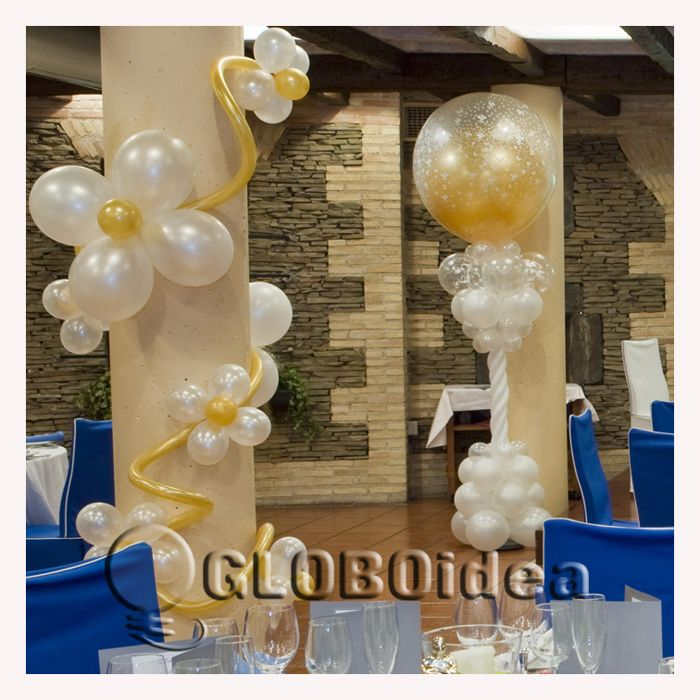 1000 images about decoraciones primera comuni n on - Arreglos de globos para boda ...