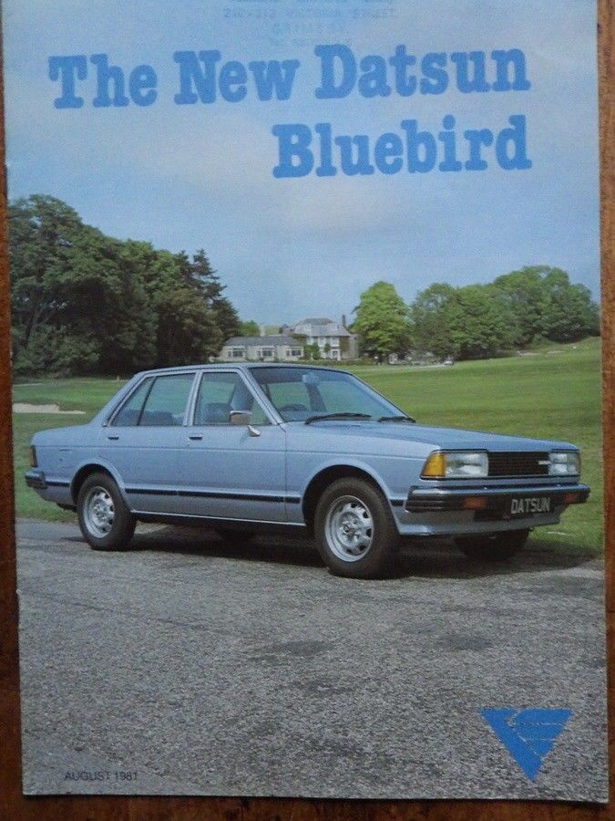 DATSUN BLUEBIRD Original 1981 CAR BROCHURE Old Car Brochures