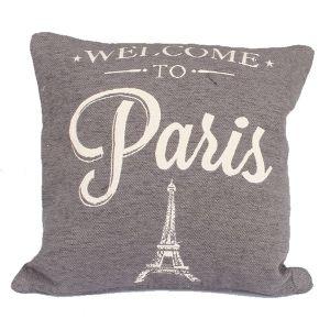 Dekorační povlak Welcome to Paris, tmavý