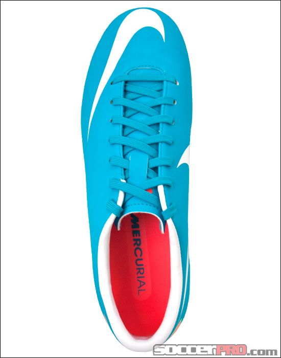 Nike Womens Mercurial Victory III>>Lifetime Return>>Blue Soccer Shoes I want to get these for soccer this year!!!