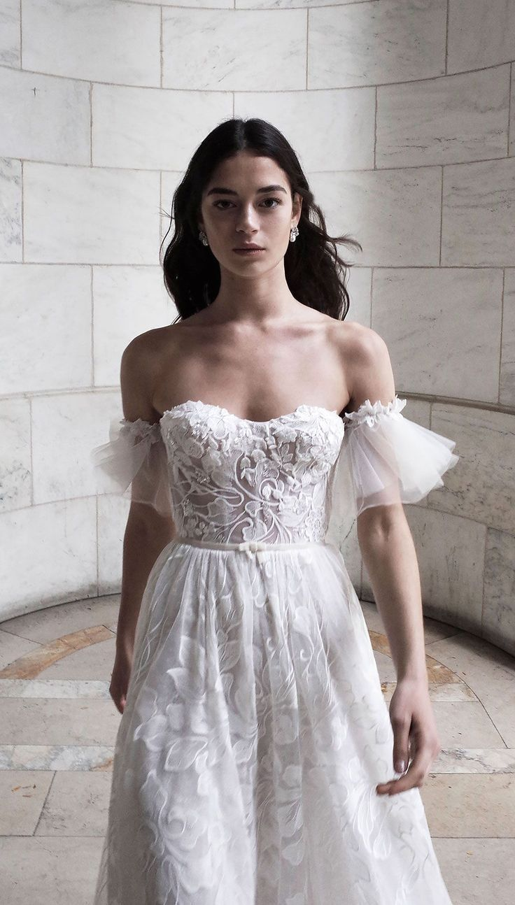 White wedding dress. Brides dream about finding the most