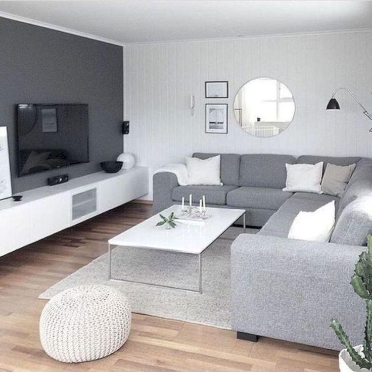 47 uroczych szarych pomysłów na salon do Twojego mieszkania