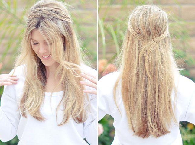 Messy Rope Braid Headband: 28 Gorgeous DIY Hairstyles  Messy Rope Braid Headband: 28   #Braid #DIY #diyhairstyles #easyhairstyle #