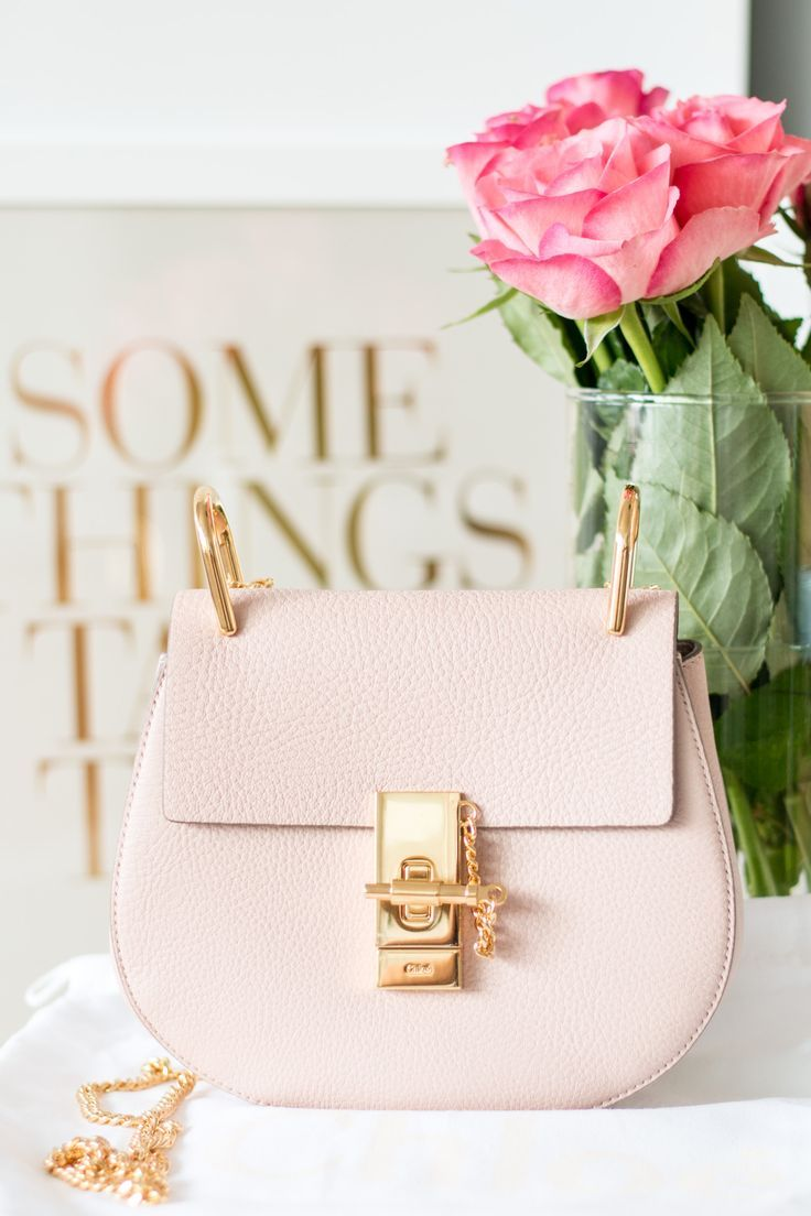 Chloe Drew Mini Bag in Cement Pink