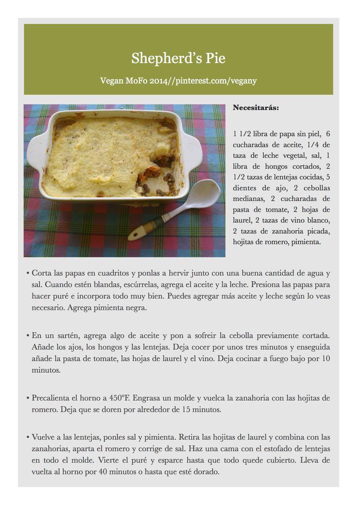 Día 22 del VeganMoFo: Shepherd's Pie.