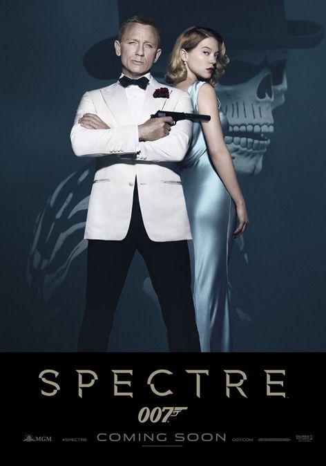 espectro arte standee Daniel Craig James Bond Léa Seydoux