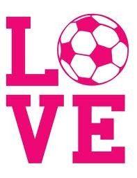 Soccer love decal