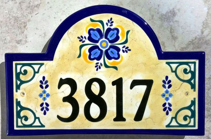 17 best images about our hand painted address plaques for Classic house number plaque