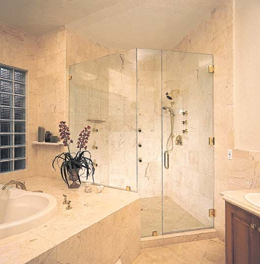 Custom Shower Glass Doors Guest Bathroom Remodel Custom Bathroom Glass Shower Wall