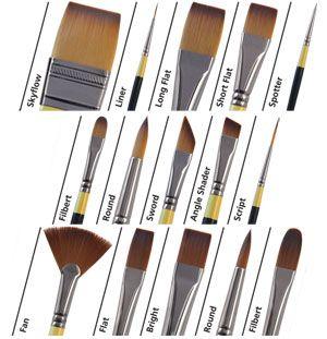 Daler Rowney New System 3 Acrylic Brushes