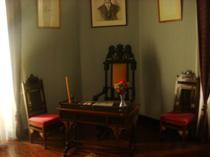 Inside Kavafi's home place in Alexandria, Egypt.