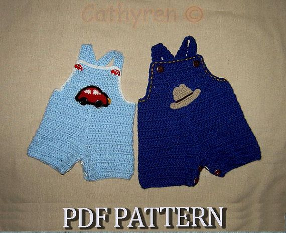 Baby Jeans Romper Overall with Appliques by CathyrenDesigns