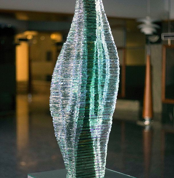 View all Ernest Vitin layered glass projects, find your favourite, contact us ernest.vitin@gmail.com  / Caleo layered glass sculpture