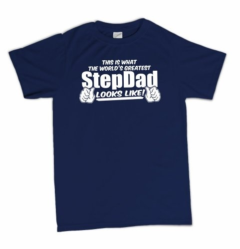 This Is What The Worlds Greatest StepDad Looks Like Funny Fathers Day T-Shirt