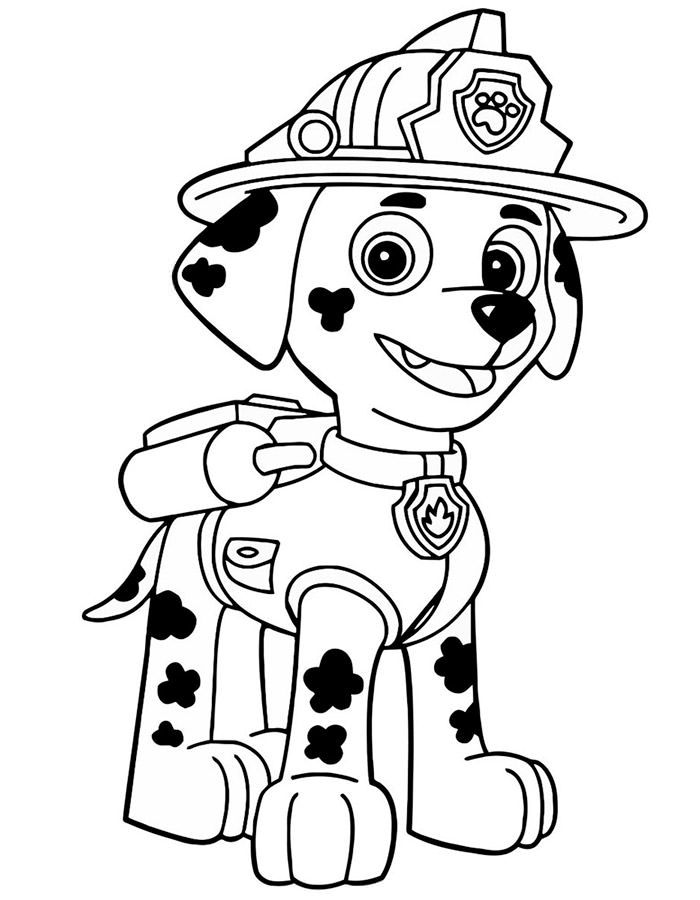 Раскраска Щенячий патруль. Распечатать картинки для детей бесплатно