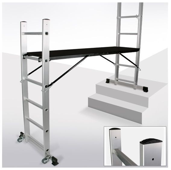 Scaffold Tower With Castors Portable Household Practical Tools Multi Ladders