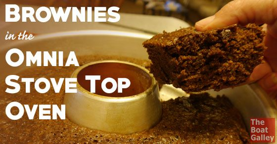 Brownies in the Omnia Stove Top Oven via @TheBoatGalley