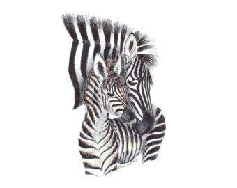 Arte de la lona de cebra bebé niña vivero arte por TheDaisyFields