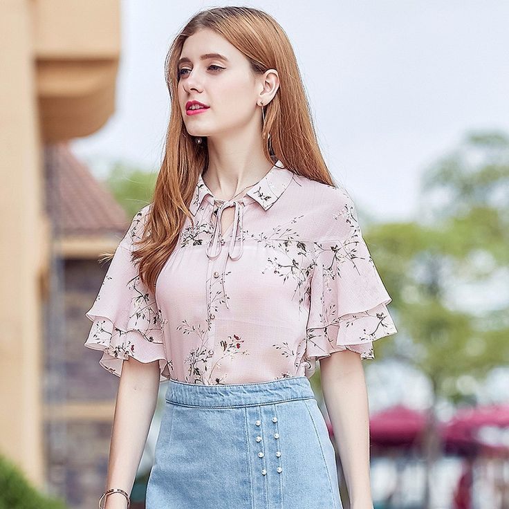 Designer Net Blouse Neck Designs Crochet Saree Blouse Ladies New Design T Shirt Flower-Print Blouse Apparel, View New Design T Shirt Flower-Print Blouse Apparel, Sparshine Product Details from Xi'an Sparshine Technology Co., Ltd. on Alibaba.com