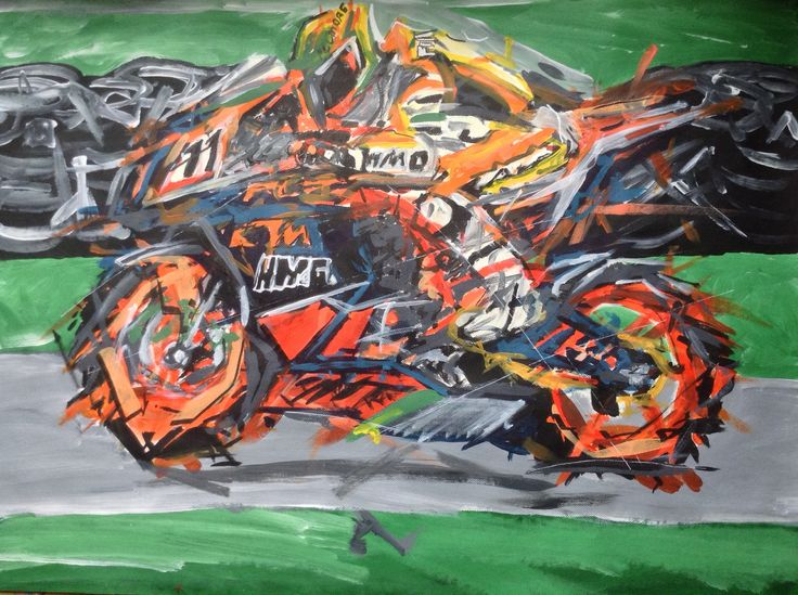 Motorcycle painted My Favorite Rider AMA Superbike Chris Fillmore KTM