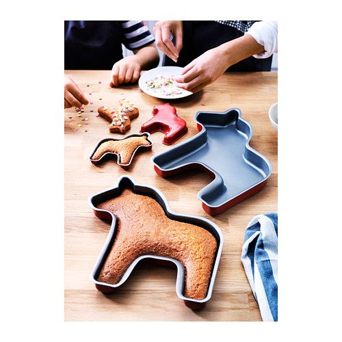 A reason to make CAKE!!! DRÖMMAR Baking pan, set of 2 IKEA Non-stick Teflon®Prima lining for easy release of pastry.