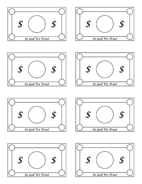 Free Printable Play Money – Free Money Templates